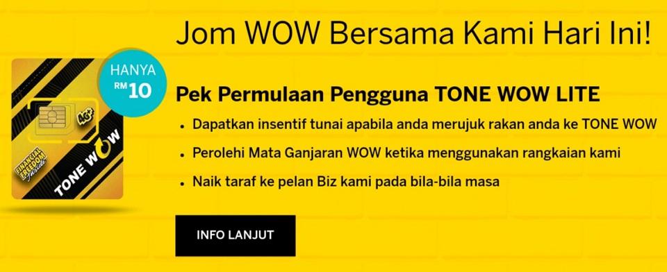 Pek Permulaan Starter Pack Tone Wow Lite Digi RM10 tonewow.net tone-wow.net