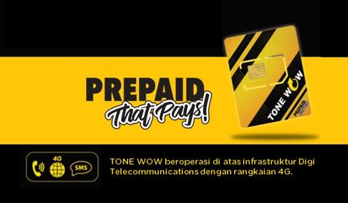 Tone Wow Banner Pek Permulaan Starter Pack Tone Wow Lite Digi RM10 daftar beli simkad tonewow.net tone-wow.net