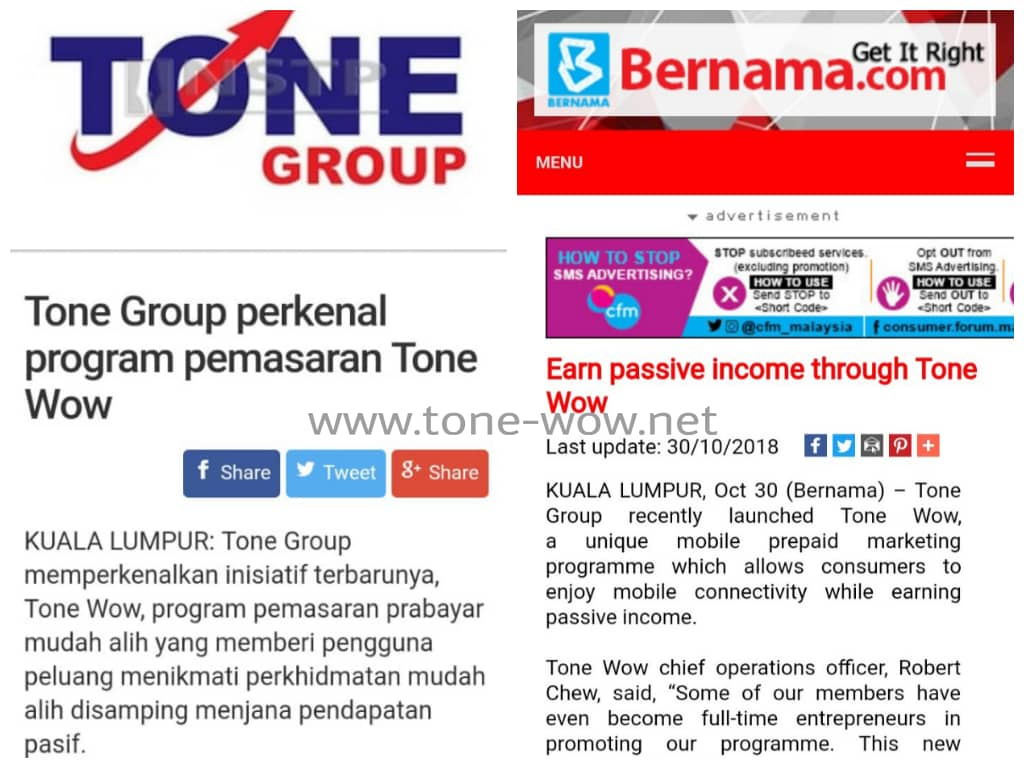 tone group perkenal program pemasaran earn passive income through tone wow tonewow bernama berita harian thedgemarkets tonewow.net tone-wow.net 2018 2019 2020 2021 2022 2023 2024 2025 2026 2027 2028