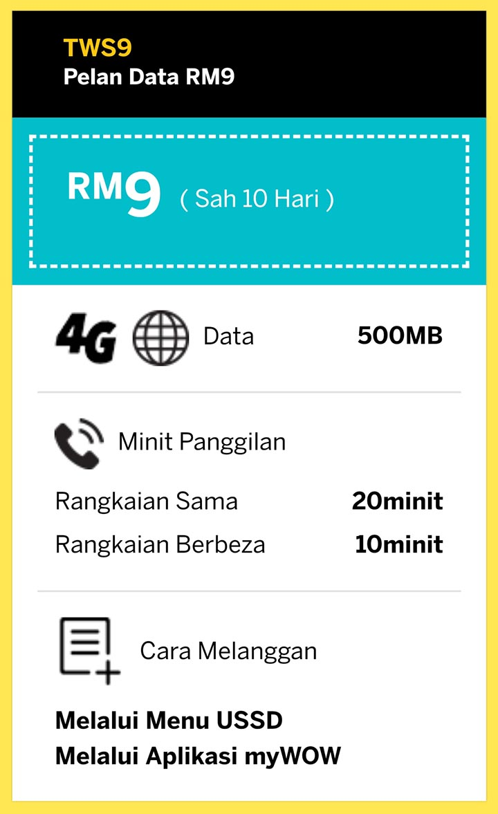 Tone Wow Plan Baru 2020 Unlimited Call Data Pek Permulaan Starter Pack Tone Wow Lite Digi RM9 TWS9 daftar beli simkad tonewow.net tone-wow.net